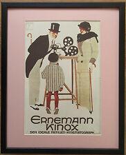 Cartel De Cine Cámara, Marco 20''x16'', Cartel Publicidad Art Deco