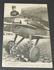 "CPA GUERRE 14-18 AVIATION GUYNEMER ""VIEUX CHARLES"" CHASSE SPAD CIGOGNES"