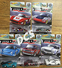 HOT WHEELS  CAR CULTURE TRACK DAY SET of 5 DATSUN 510 VW PORSCHE 1/64 DJF77-956D