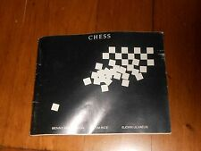 Chess the Musical Booklet from album Benny Anderson Bjorn Ulvaeus ABBA Tim Rice