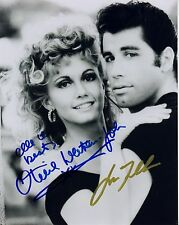 GREASE - GLOSSY MINI POSTER PRINT - SIGNED by JOHN TRAVOLTA & OLIVIA NEWTON JOHN