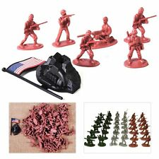 100pcs 1:72 Plastic Toy Military Soldiers Army Men Figures 12 Pose Children Boy