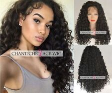 Best Lace Front Wigs Glueless Long Black Curly Synthetic Full Wig Heat Friendly