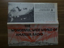 Old Pamphlet - American Radio Relay League - Ham Radio - Undated - Stained