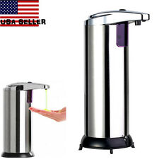 Stainless Steel Hands Free Automatic IR Sensor Touchless Soap Liquid Dispenser B