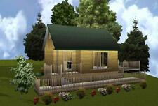 16x24 Cabin w/Loft Plans Package, Blueprints, Material List