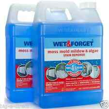 2 PK WET & FORGET MOSS, MOLD, MILDEW & ALGAE STAIN REMOVER CLEANER 0.75 GALLON
