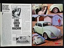 1956 Volkswagon VW Beatle Bug - 2 Page Original Article - Free Shipping