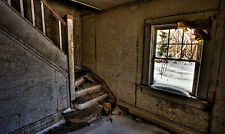 Framed Print - Old Derelict Staircase in a Condemned House (Picture Poster Art)