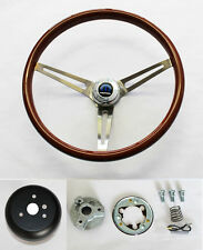 1968 1969 Charger Dart Coronet High Gloss Finish Wood Steering Wheel 15""