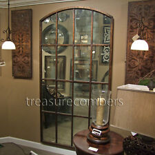 Antiqued Window Arch Wall Floor Mirror XL 82""