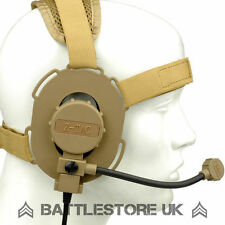 Z TACTICAL BOWMAN EVO III Cuffie Airsoft RADIO MIC BOOM 3 TAN ZTACTICAL Z029 UK