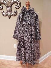 * VINTAGE CHIC * BONNIE CASHIN Animal LEOPARD Print Full SWING COAT Sz 8