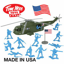 TimMee Processed Plastic SEA KING RESCUE HELICOPTER Playset: Tim Mee Army Men