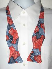 BOW TIE * BANDANA  PRINT * 100% COTTON  * SELF-TIE * MEN SIZE
