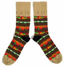 MENS MEGA BURGER CHEESEBURGER & RELISH SOCKS UK SIZE 6-11 / EUR 39-45/ USA 7-12