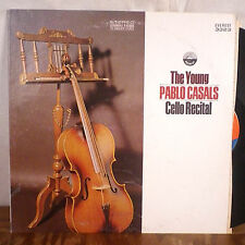 The Young Pablo Casals Cello Recital LP Everest Stereo M-