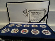 Elvis Presley 25th Anniversary Colorized State Quarters Coin Set Sunglasses Lot