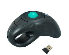 Wireless Finger HandHeld USB Laser Trackball Mouse Mice For PC Laptop Desktop BO