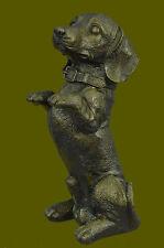 HandcraftedMetal Dachshund Dog Statue Figurine Bronze Figure Detailed Artwork