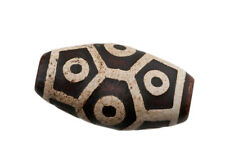 ANCIEN DZI A 9 YEUX LUMINEUX AGATE PERLE TIBETAINE-  HIMALAYAN BEADS - 6241-D3