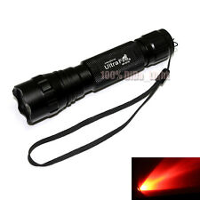 New UltraFire 501B CREE Red light LED 1Mode 150 Lumens Tactical Flashlight Torch