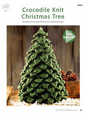 Crocodile Knit Christmas Tree By Annies Attic Adorable Table Top Holiday Pattern