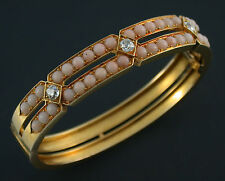 Arm Reif bangle royal vintage 1881 15 Kt. Gold diamond german empress Victoria