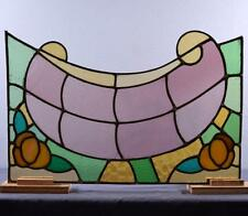 *Antique French Stained Glass Panel with Leaded Glass