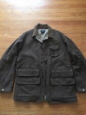 Vintage USA Made Polo Ralph Lauren Houndstooth Tweed Mackinaw Hunting Jacket L