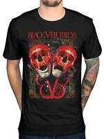 Official Black Veil Brides Double Skull T-Shirt BVB Rock Band Church Wild Ones
