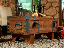 VECCHIO VIAGI TRONCO Tavolino Cottage vapore tronco di pino petto d'epoca