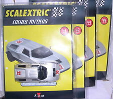 SCALEXTRIC SPAIN ALTAYA COCHES MITICOS MERCEDES WANKEL C-111 #22  4 BLISTERS