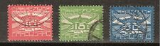 NVPH Nederland luchtpost 1 - 3 used 1921 FIRST NETHERLANDS AIRMAIL STAMPS