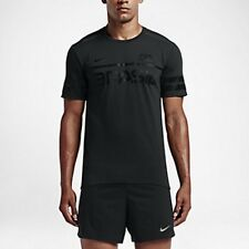 Nike Dry Brazil Short Sleeve Men's Running Top (S) 812030 010