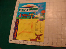 Unused High Grade: FIND-A-WORD feb 1974: fun tastic, complete UNUSED
