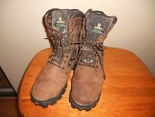 WOMEN'S ROCKY CAMOUFLAGE  WATERPROOF LACE UP BROWN LEATHER #4365 BOOTS SIZE 9W