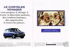 Publicité advertising 1994 (2 pages) Chrysler Voyager
