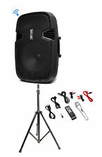 Pyle PPHP152BMU 1000 Watt 15 Inch Bluetooth  Active PA DJ Speaker System + Stand
