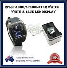 Mens Boys Girls Blue White LED RPM Watch Car Pattern Meter Flash Date Calendar