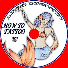 TATTOO SKILLS TUITION BY EXPERTS EASY TO FOLLOW LESSONS, BEGINNERS GUIDE DVD NEW