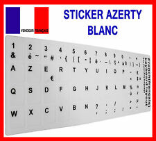 Sticker Autocollant AZERTY BLANC pour Touches de Clavier d'Ordinateur Portable