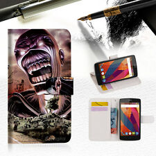 Iron Maiden Wallet TPU Case Cover For Telstra Signature Premium A9 --A014