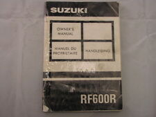 SUZUKI RF600 1993 OWNERS MANUAL HANDLEIDING MANUEL DU PROPRIETAIRE