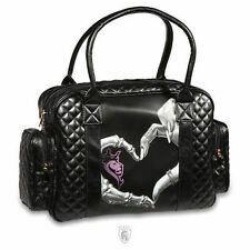 Og Abel Heart Hand Tattoo Skeleton Punk Goth Rocker Love Tote Handbag Purse