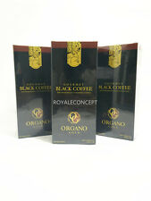 3 Scatole Organo Gold Black Coffee Caffè Nero Ganoderma Lucidum