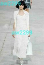 NWT CHANEL 14S  2014 Runway Most Wanted Dress Suit 36 CC Logo Off White sold out