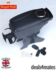 BLACK ARM ARMREST CENTRE CONSOLE VW BORA CADDY FOX JETTA LUPO SHARAN VENTO POLO