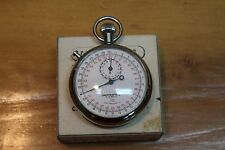 Vtg Chesterfield 7 Jewel 1/10 Swiss Made Antimagnetic Stop Watch Tested w/ Box