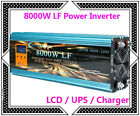 DE~32000W/8000W LF Pure Sine Wave Power Inverter 24V DC/230V AC LCD/UPS/Charger